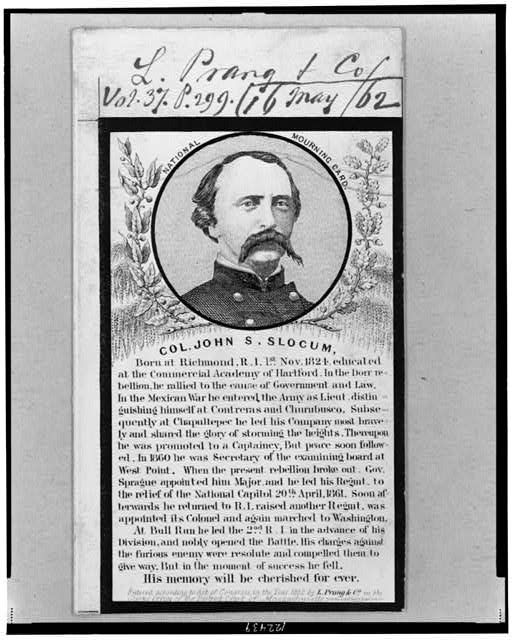 Colonel John S. Slocum, mortally wounded and treated at the Stone House