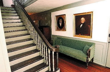 The house's entryway and central staircase.