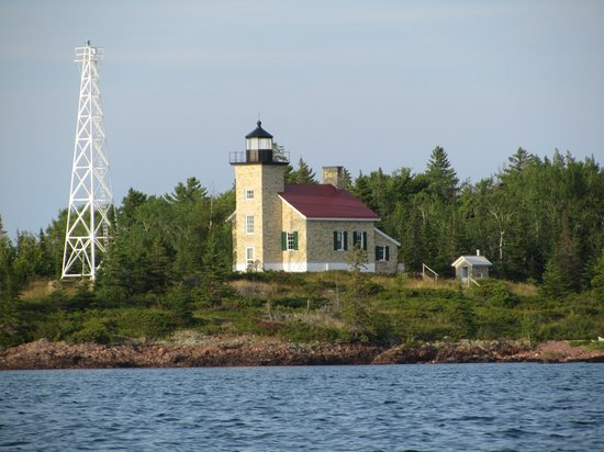 The lighthouse and the newer steel tower