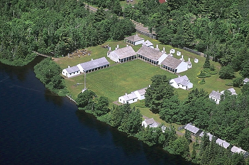 Aerial view of For Wilkins