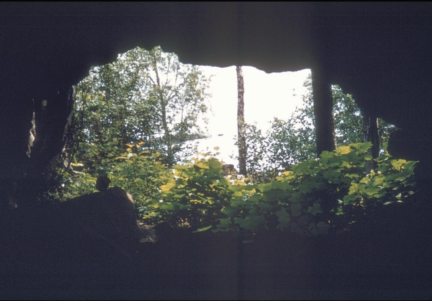 Entrance to one of the shafts at the site