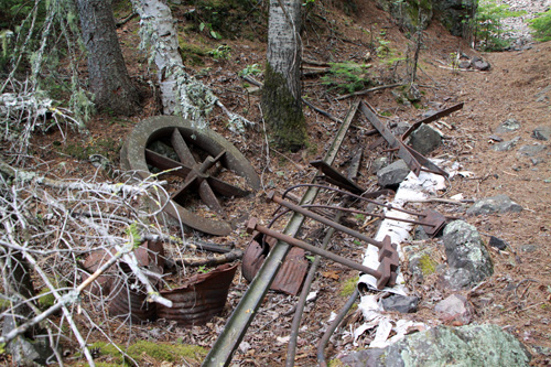 Mining equipment left behind by the company