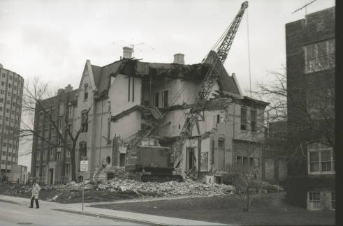 Demolition of William Plankinton Mansion circa 1970
