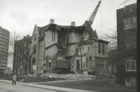 Demolition of William Plankinton Mansion circa 1970