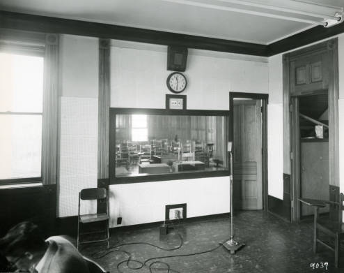 School of Speech classroom in John Plankinton mansion circa 1953
