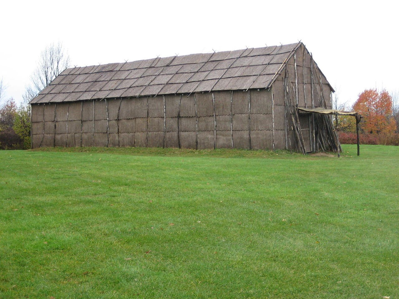 Ganondagan State Historic Site was once the location of the largest Seneca village of the 17th century. This reconstructed longhouse gives visitors an idea of what longhouses used to look like.