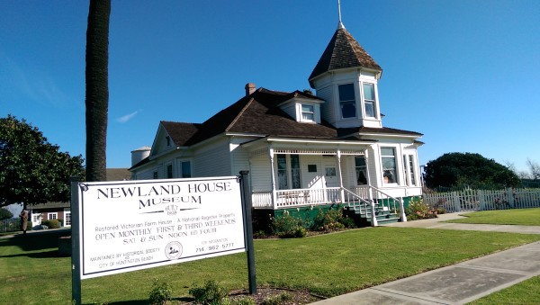 Newland House Museum is located in the Newland Shopping Center, Beach Boulevard and Adams Avenue, in Huntington Beach, California.