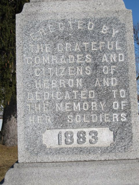 This marker was placed in the cemetery in 1883 and commemorates Union veterans and other soldiers buried here.