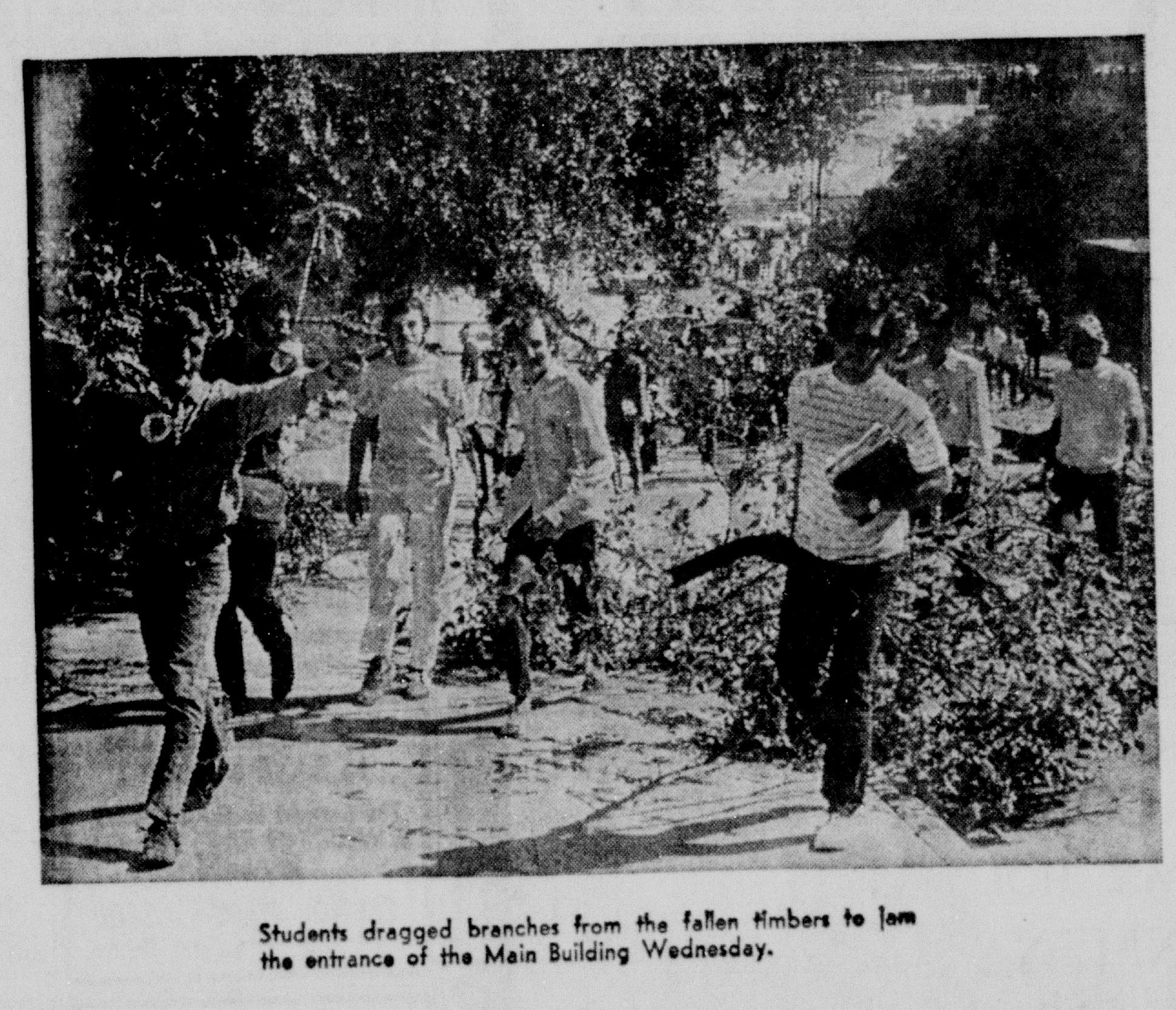 Photo taken by John Yates and published in the Daily Texan on October 26, 1969. This issue can be found in the linked database of Daily Texan archives.
