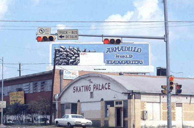 The Armadillo World Headquarters (behind the Skating Rink) in 1976. Photo:Steve Hopson Photography, stevehopson.com.