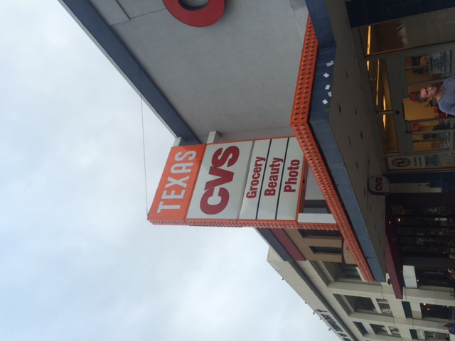 The once popular and controversial Texas Theater is now the present day site of CVS.