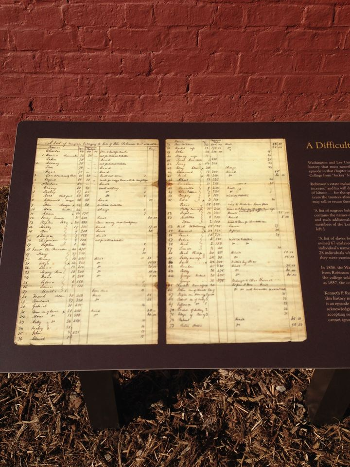 The marker includes images of ledgers showing the purchase and ownership of slaves.