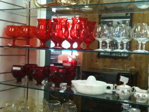 Hand cut glassware patterns