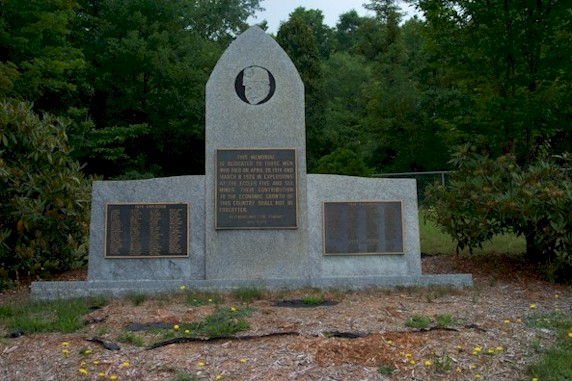 Memorial dedicated to the miners who lost their lives
