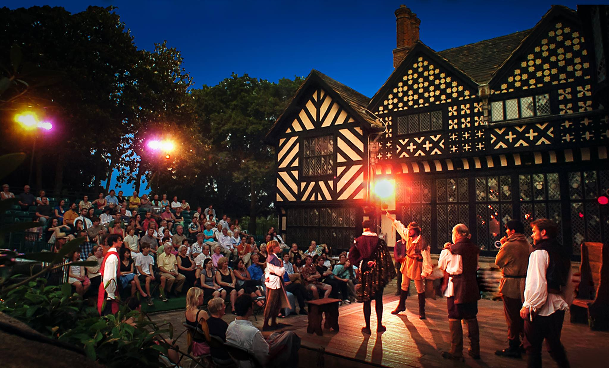 A Shakespearean play being preformed at Agecroft.