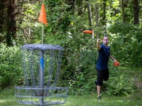 "Disc golf. (""Fans find disc golf a game for the season,"" Boston Globe.)"