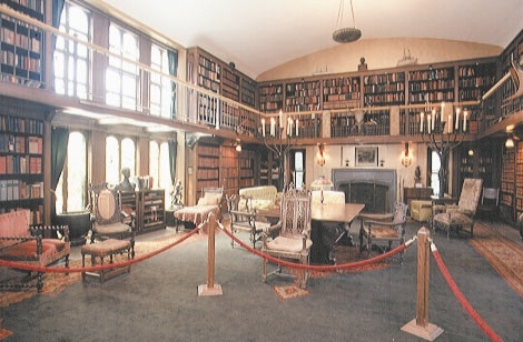 The library inside the Ames Mansion. (Kristin Norwood, 2012.)