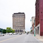Kanawha Boulevard East view of Union Bldg. looking west.