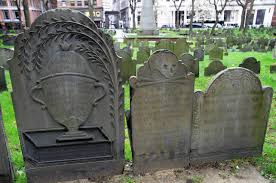 Examples of gravestone carvings (image from Wikimedia)