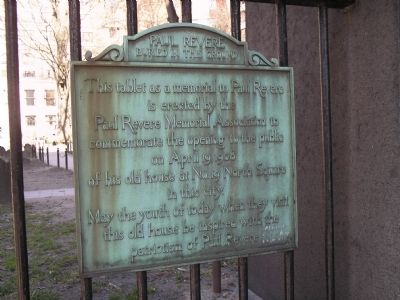 Paul Revere marker (image from Historic Markers Database)