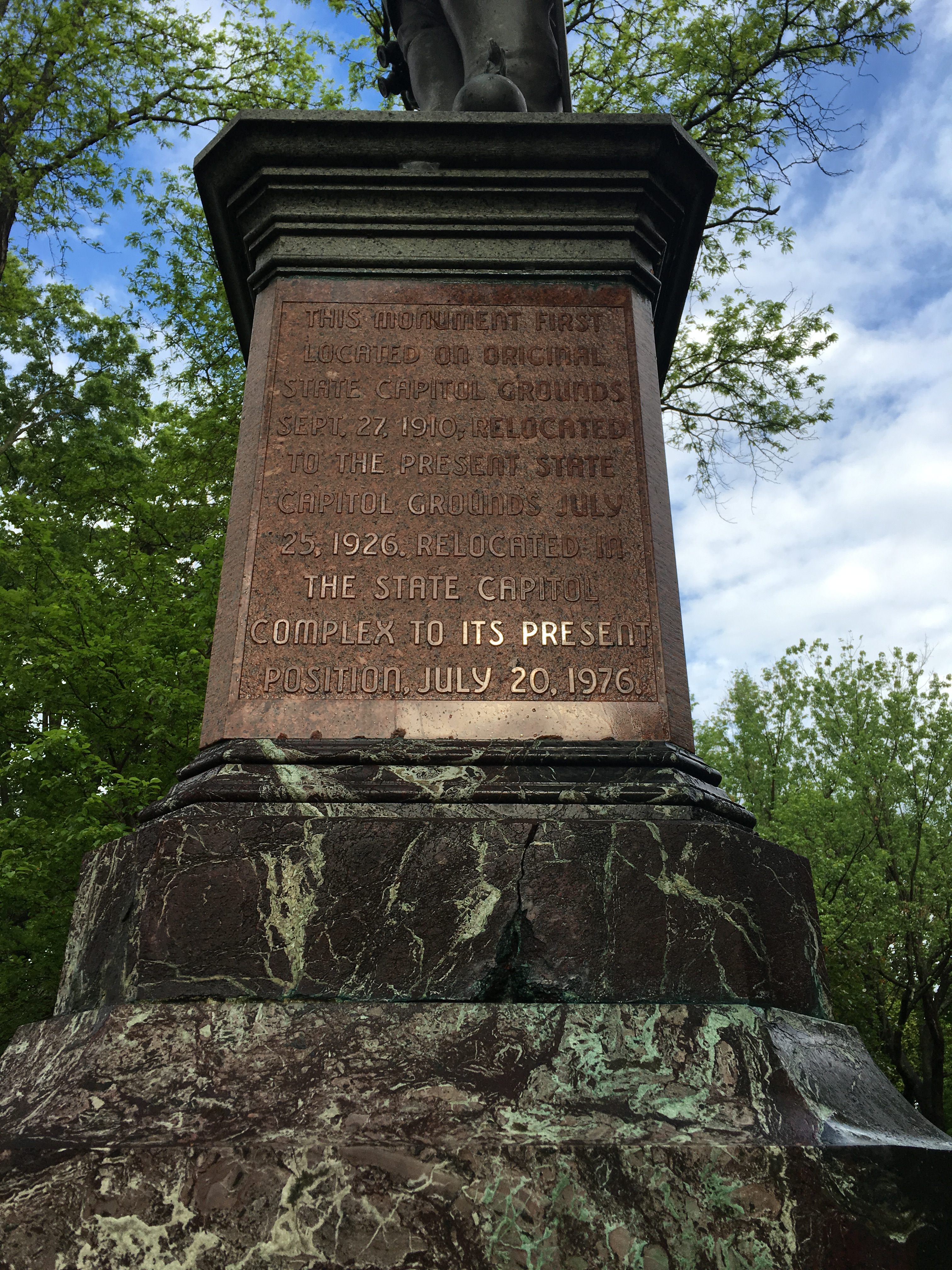 SJ statue inscription,  Photo by Jodie Groves, edited by Billy Joe Peyton
