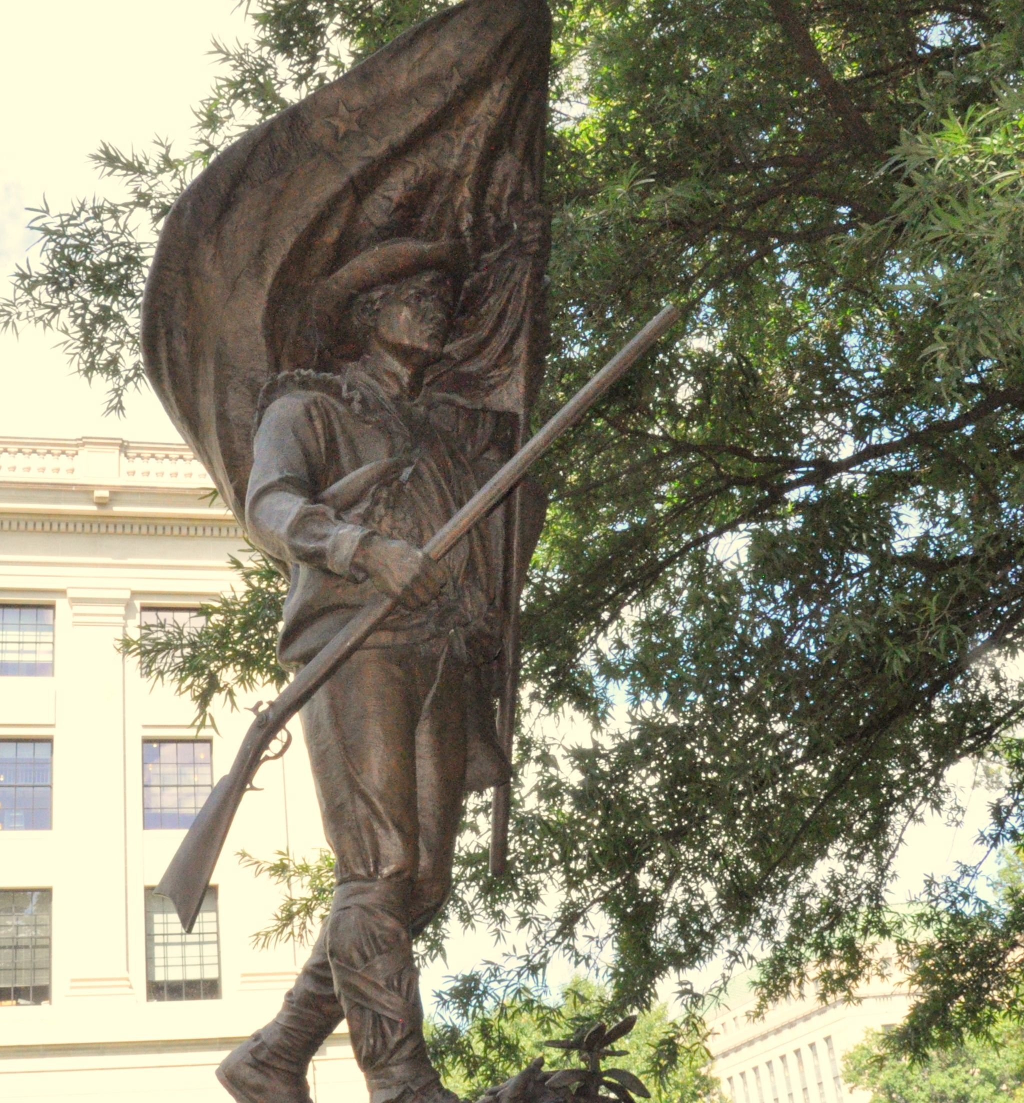 The Mountaineer Soldier Statue at the West Virginia State Capitol.