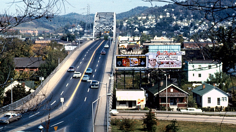 South End of Patrick Street Bridge, Summer 1964. Photo courtesy mywvhome.com