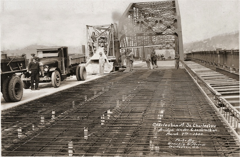 Construction of the bridge. Photo courtesy mywvhome.com
