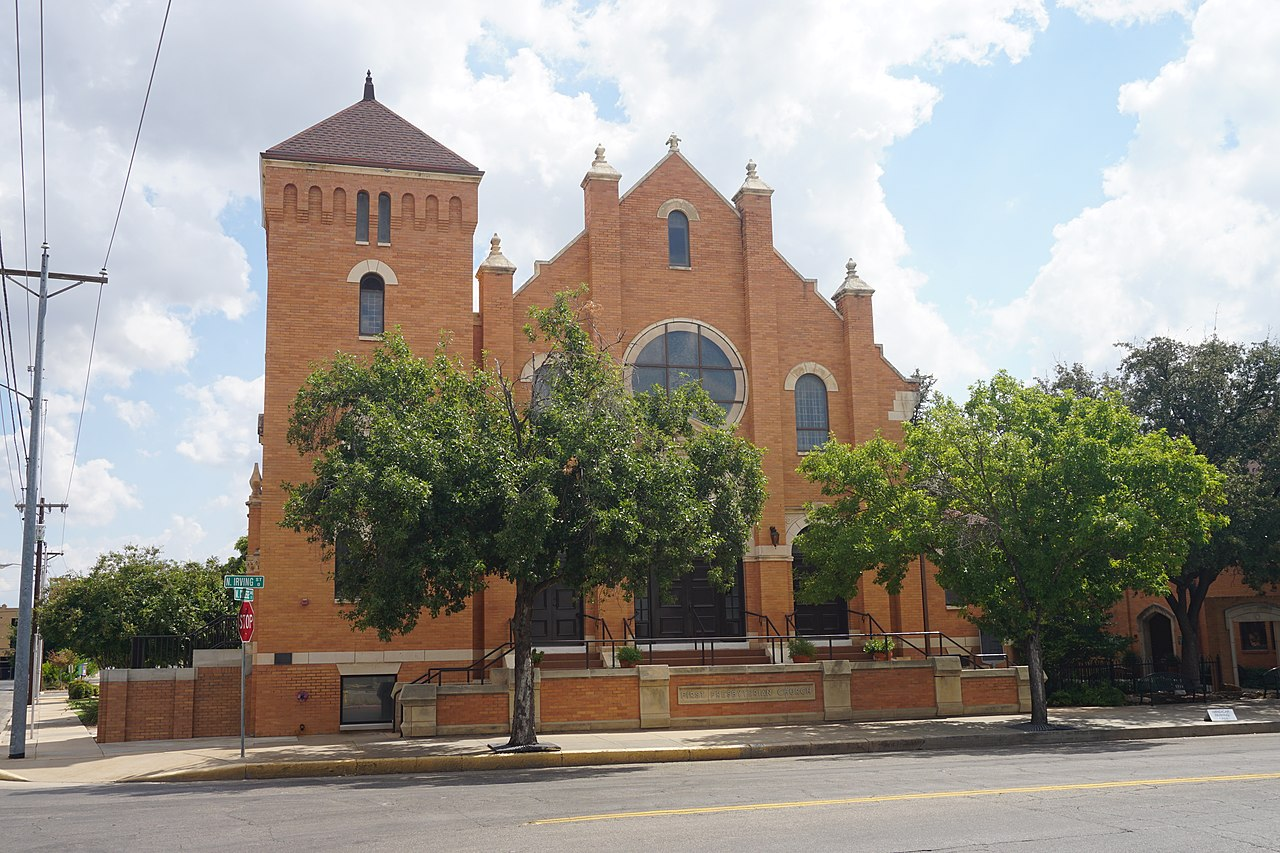 First Presbyterian Church was built in 1908 and is one of the city's most well-known landmarks.