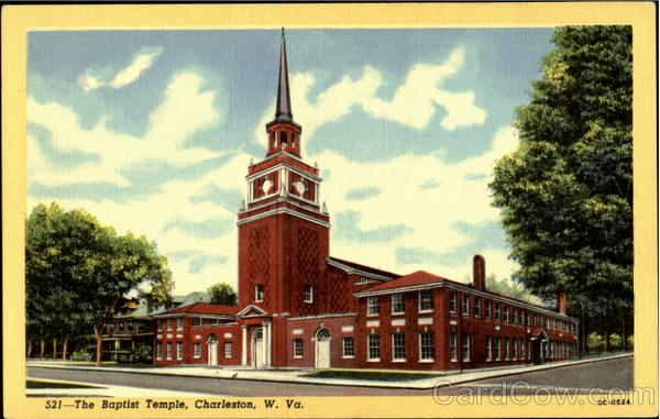 The church on a local postcard ca. 1940.