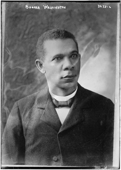 A photo of young Booker T. Washington.