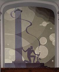 Science, 1930. Aaron Douglas. Mural at Cravath Hall