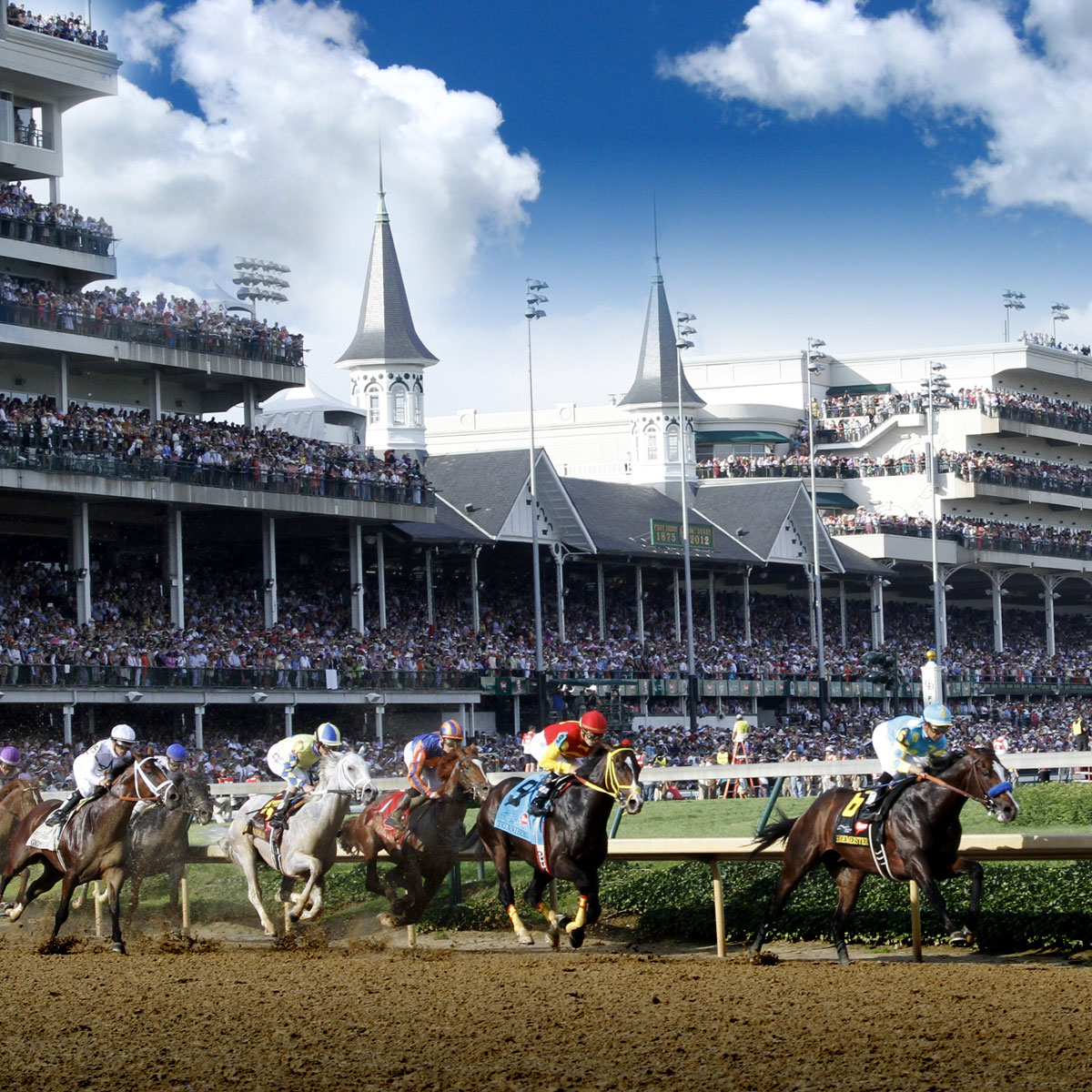A race at the Downs (image from Churchill Downs)