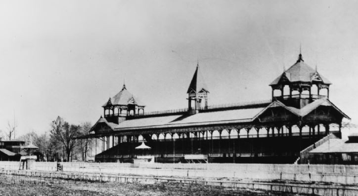 The original 1875 Grandstand (image from the Courier-Journal)
