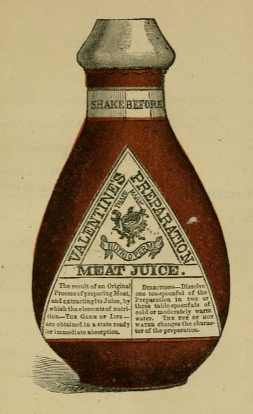 "Part of an advertisement for Valentine's health tonic, ""Meat Juice,"" which he amassed the wealth needed to allow for the creation of this museum."