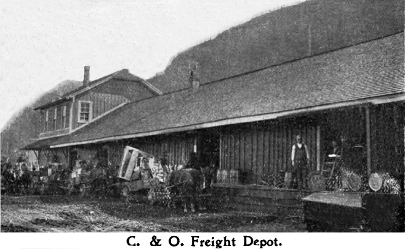 The C&O Freight Depot in Charleston, WV, that unloaded 800 train cars per month on average.