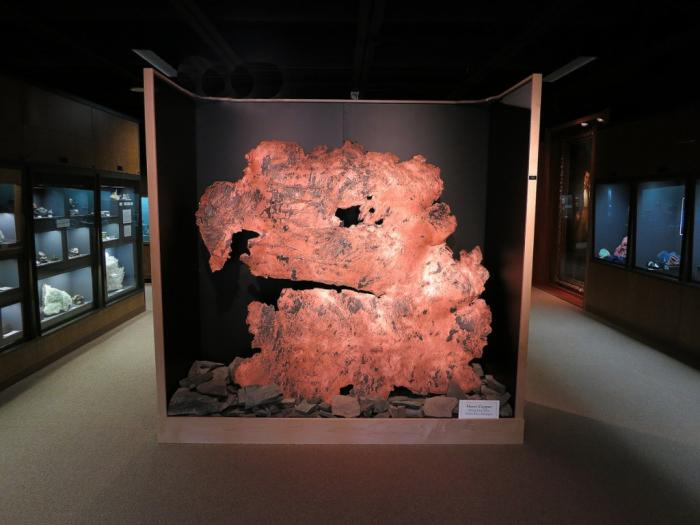 A large copper sheet on display