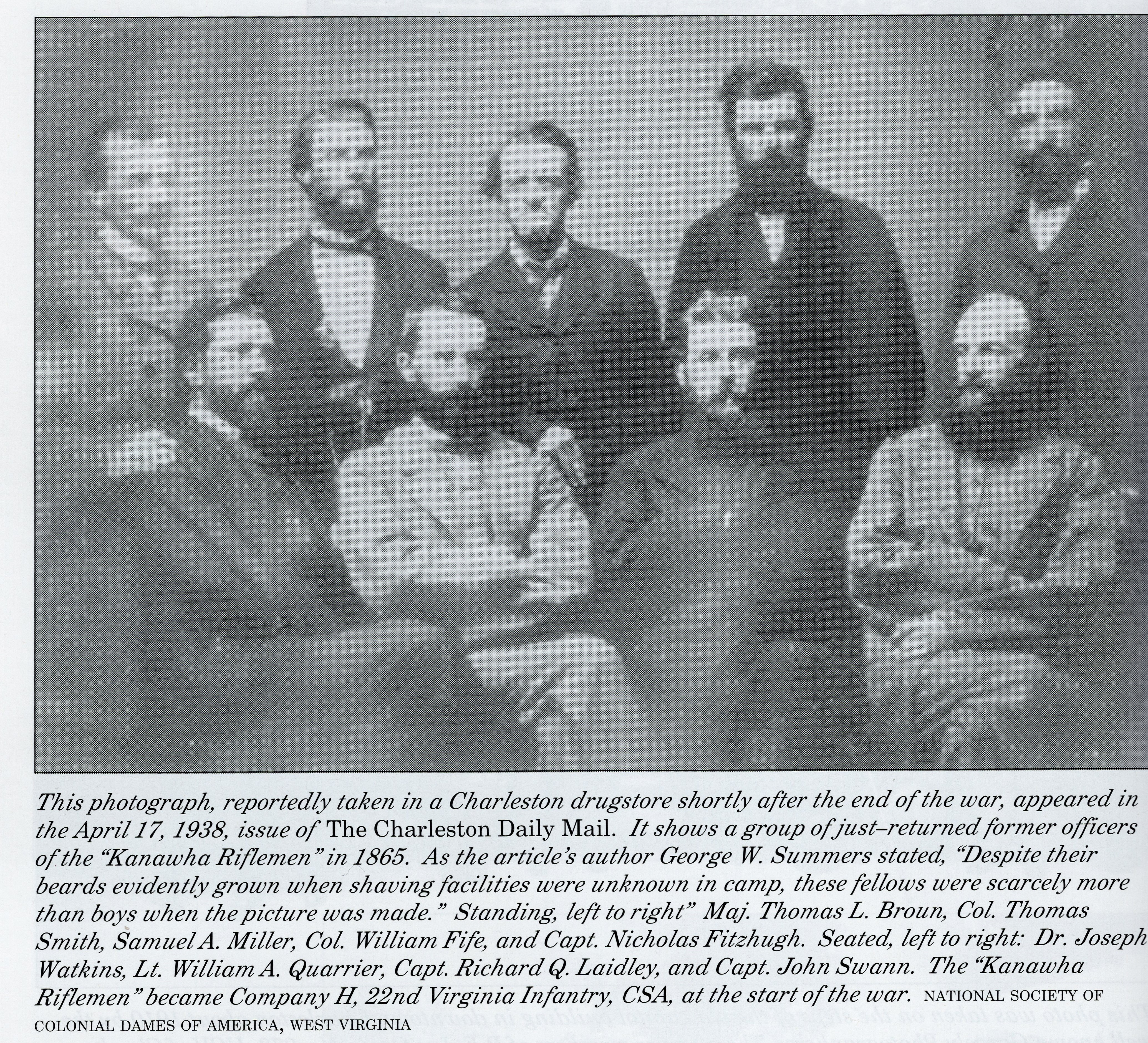 Officers of the Kanawha Riflemen at the end of the war.