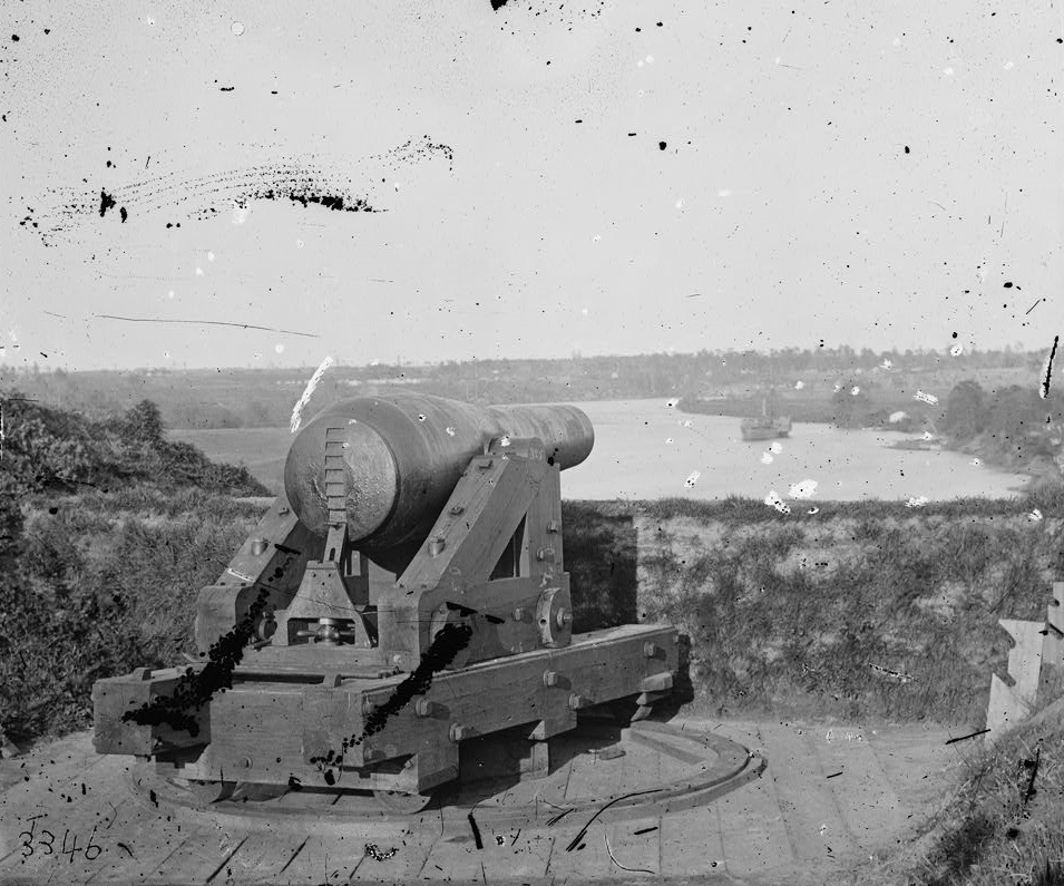 Artillery piece that helped repel the Union forces steaming up the James.