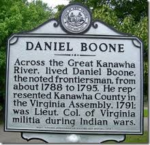 Daniel Boone Park Highway Marker