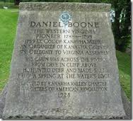 Daniel Boone Park Monument erected by the Kanawha Valley Chapter of the Daughters of the American Revolution