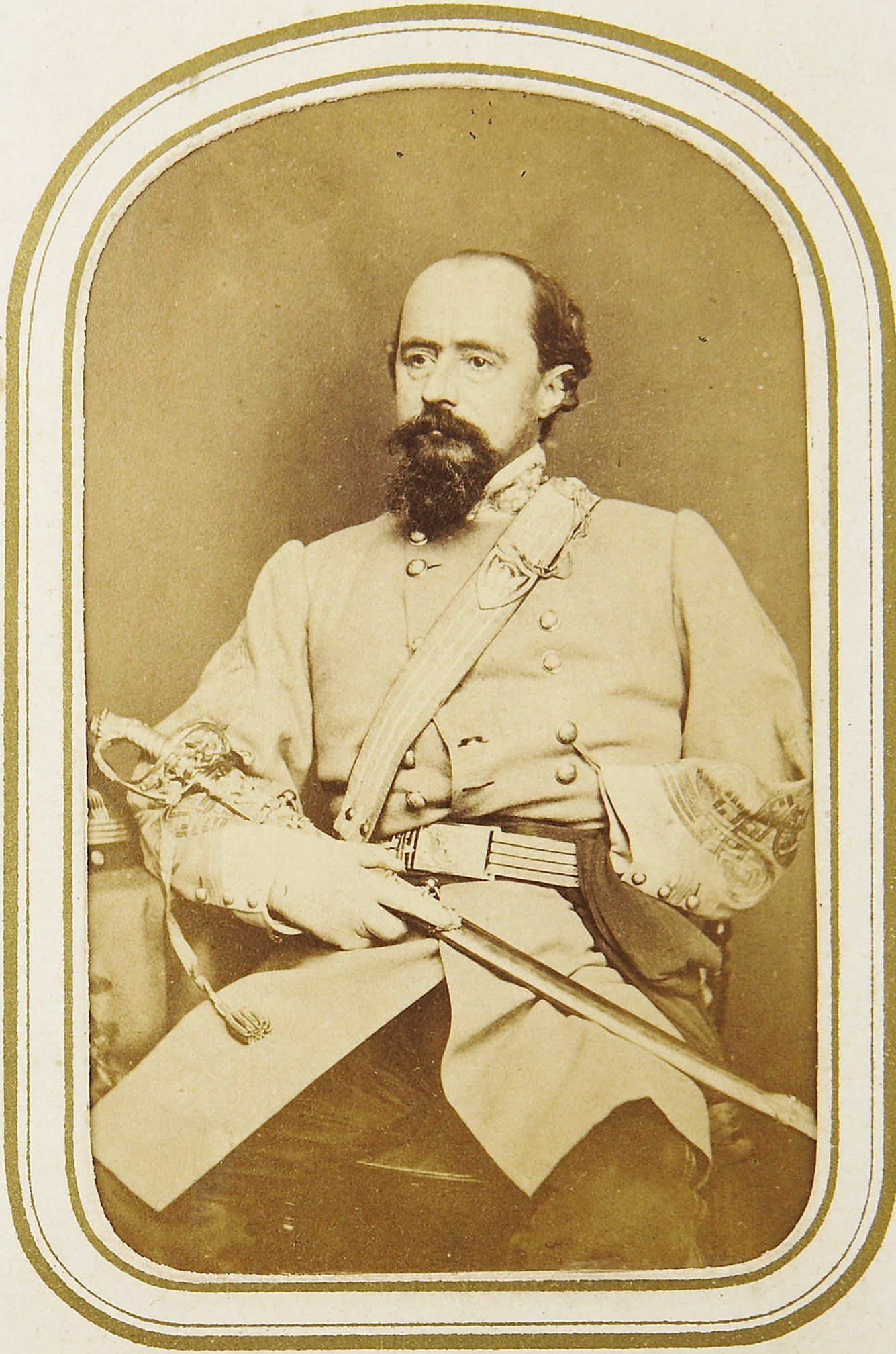 General William W. Loring, C.S.A. Commander of Confederate forces in the Kanawha Valley in 1862. After the war, he went on to serve in Egypt with about 50 Civil War veterans, working to modernize the Egyptian Army. National Archives.