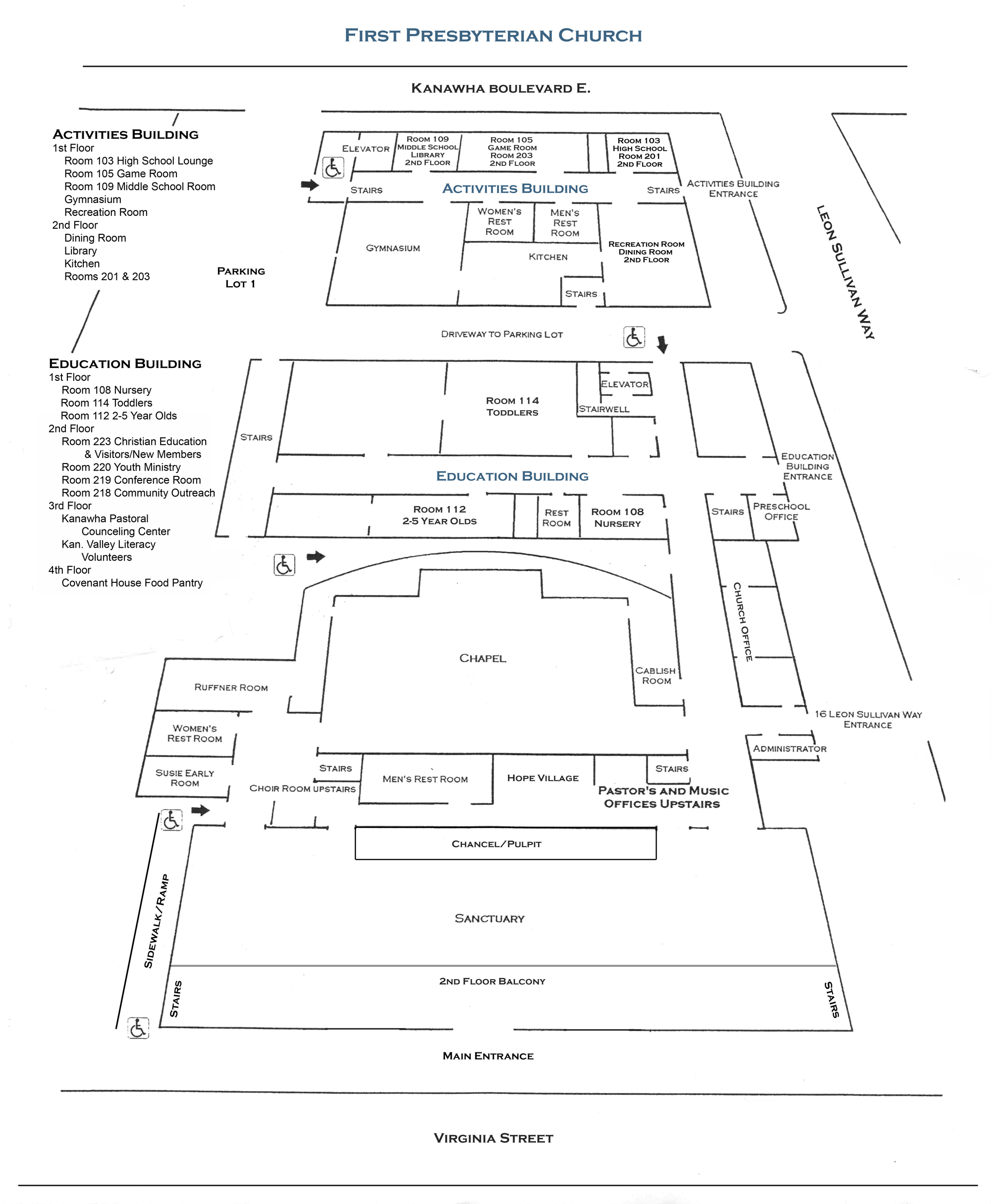 Map of interior