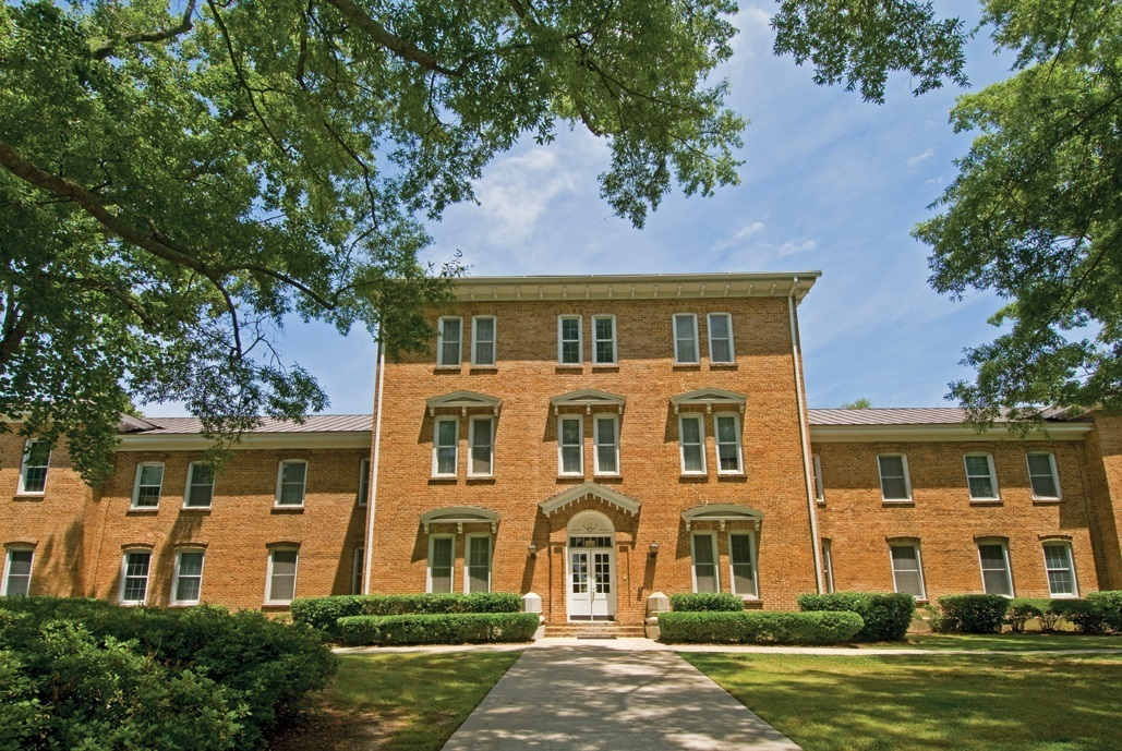 Current image of Smeltzer Hall, first building that was built upon return to Newberry
