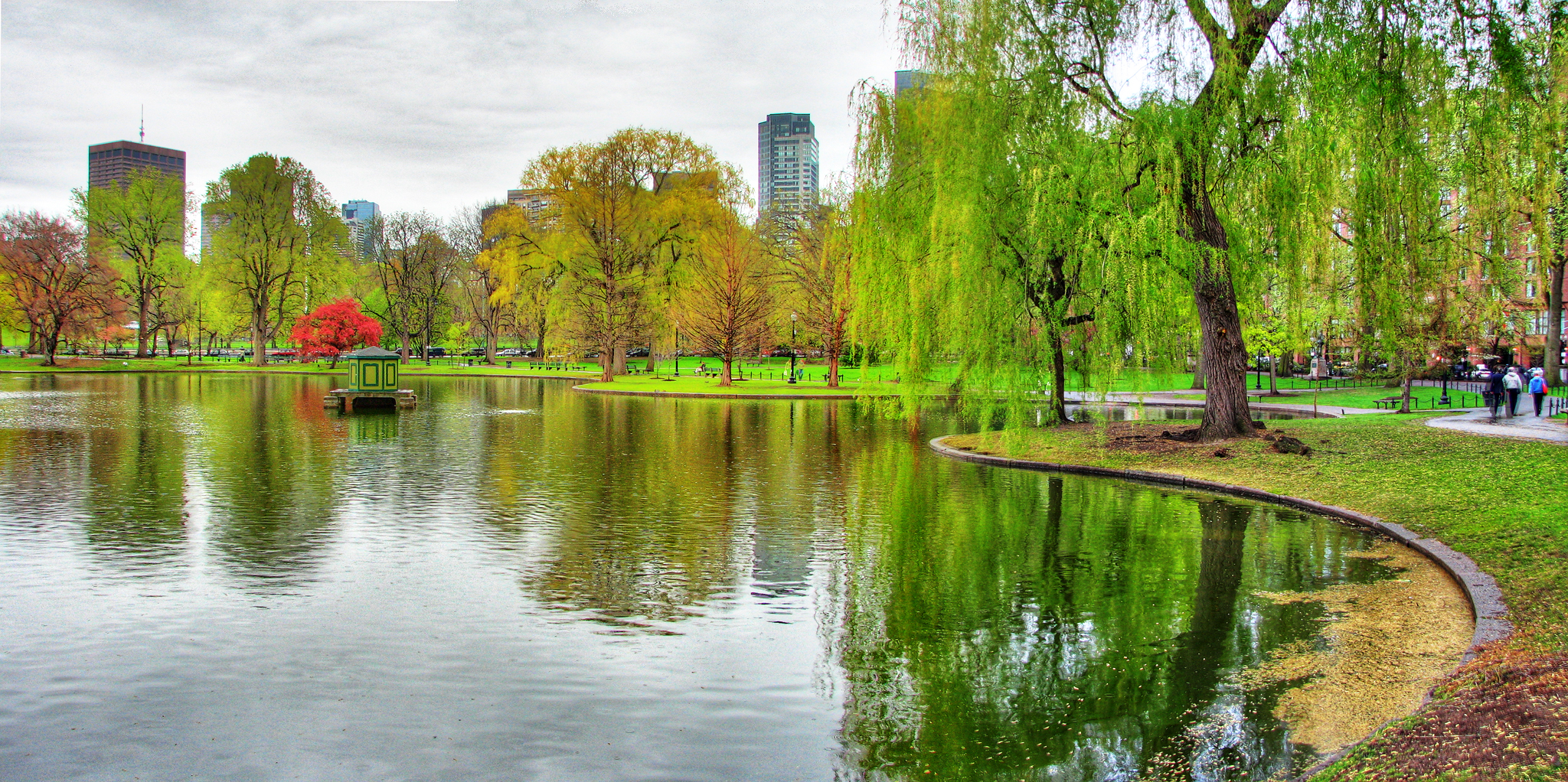 Panorama of the Boston Public Garden (image from Wikimedia)