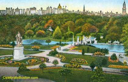 The Public Garden depicted circa 1920 (image from the Friends of the Public Garden)