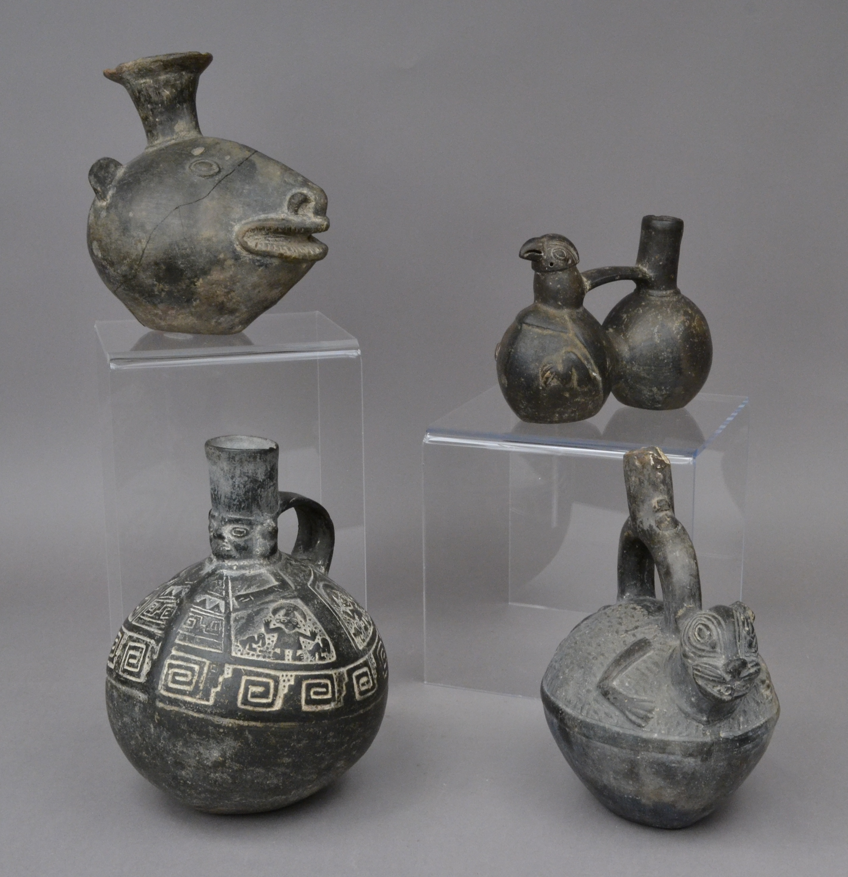 Chimu pottery from the Ancient World collection (image from The Boston Children's Museum)