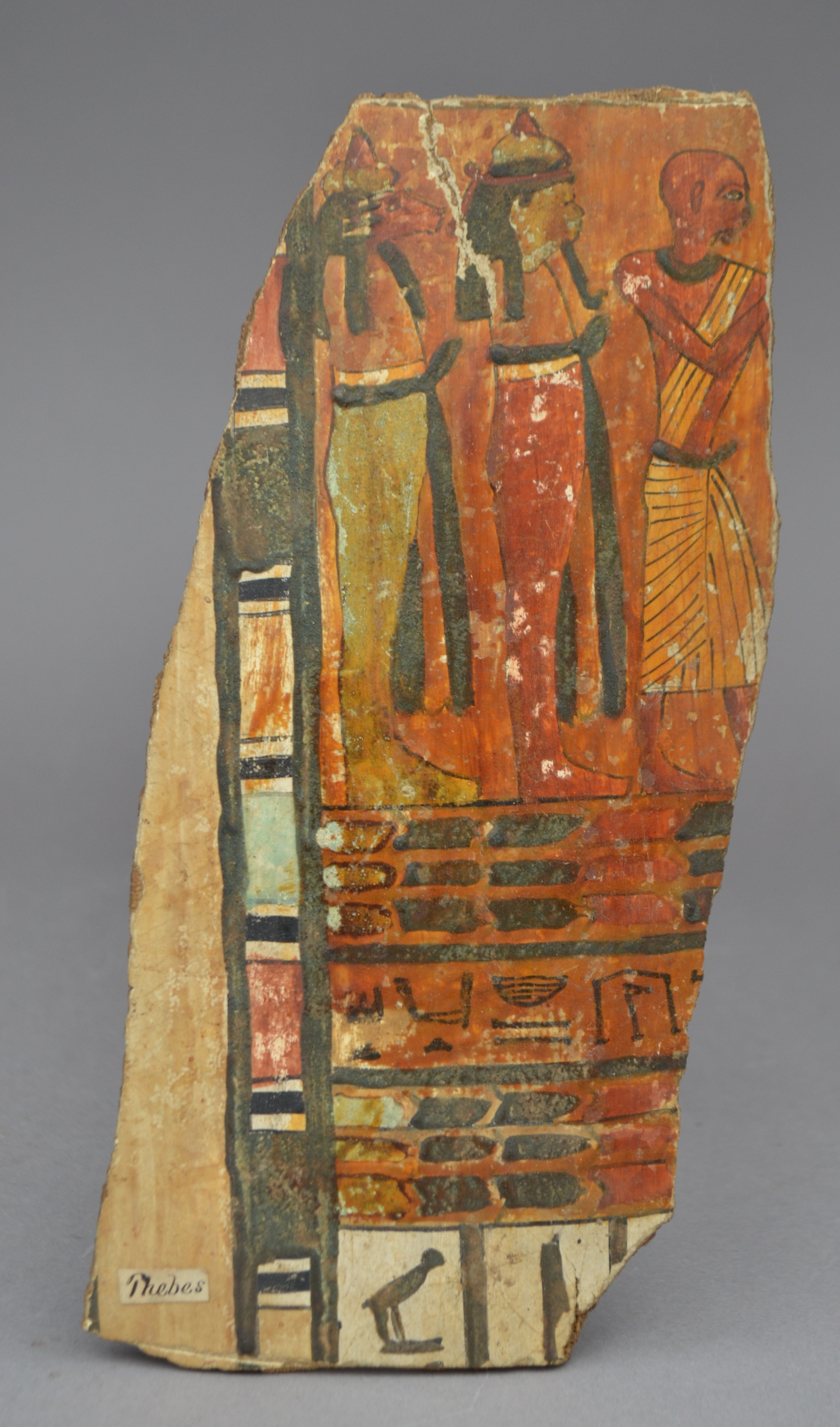 Mummy case fragment from the Ancient World collection (image from The Boston Children's Museum)