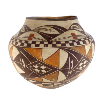 Pottery on Display: Zuni Olla's Piece
