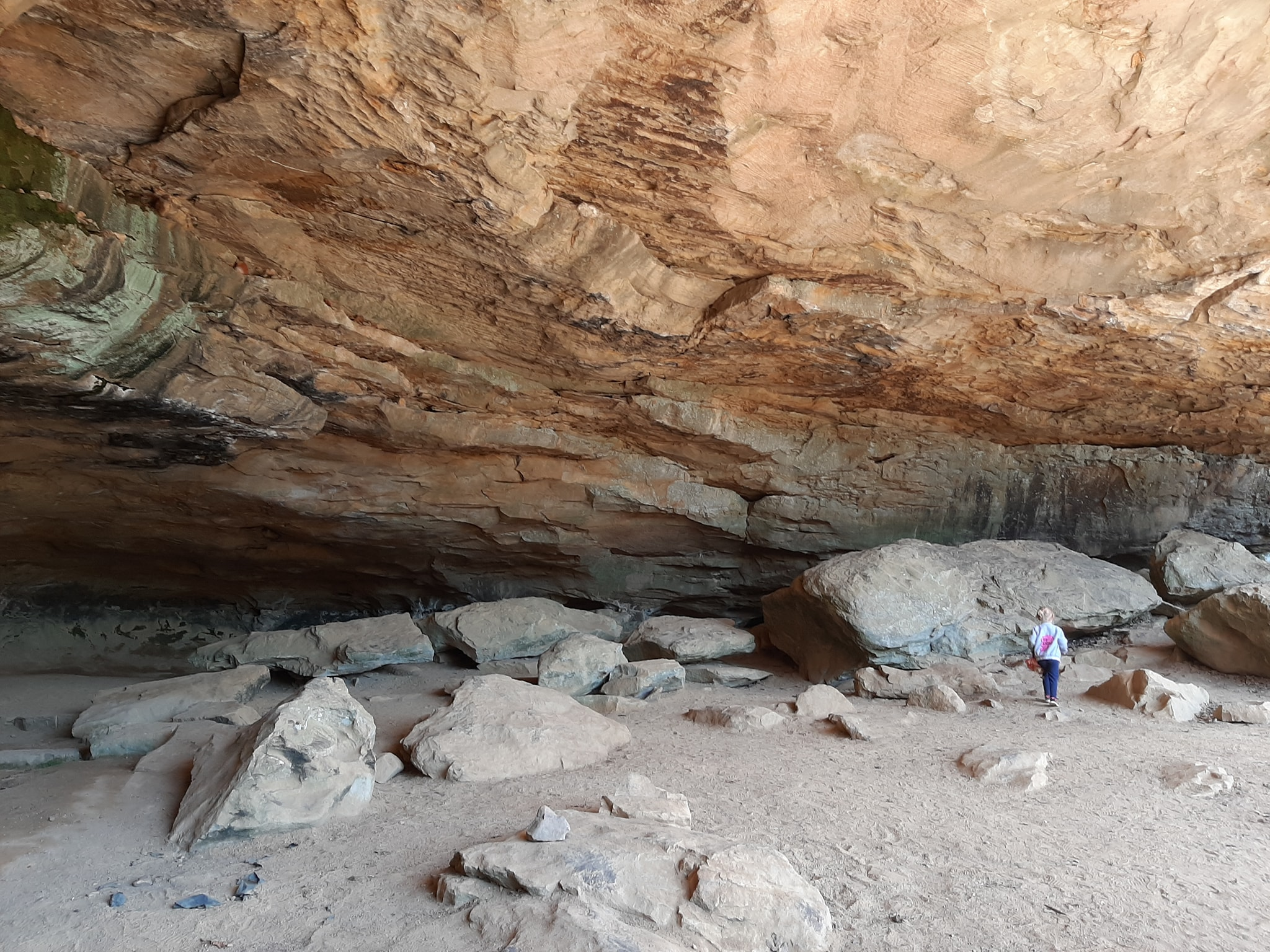 The Rock House Cave at Petit Jean State Park in Arkansas was most likely at bluff dwelling or gathering place for pre-historic Native Americans.